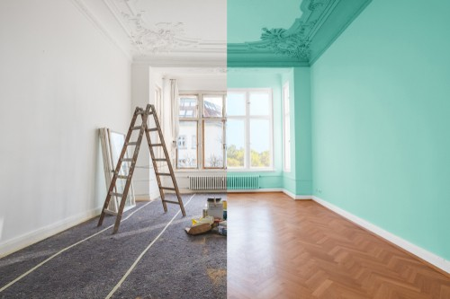 Picture of before and after home renovation